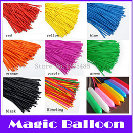 Wholesale Assorted Tie Wedding - Wholesale-100P Pack Tying Twisting Balloon Long Shape Balloon Latex Balloons Assorted Colors Wedding Birthday Christmas Holiday Decoration