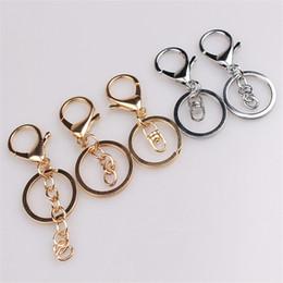 Gold überzogene schmucksachen, die versorgungsmaterialien bilden online-Schlüsselanhänger Schlüsselanhänger Schmuckzubehör Komponenten Gold Silber Karabinerverschluss Schlüsselanhänger Zubehör