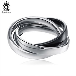 Wholesale Tone Color Rings - Men Women Three Tone Mix Color Ring 316L Stainless Steel &Gold Plated & Rose Gold Plated Ring Women Jewelry GTR24