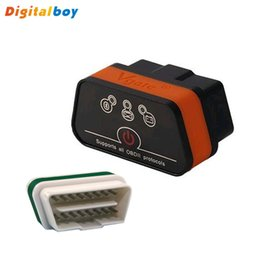 Wholesale Diagnostic Car Pc - Wholesale-New Promotion Vgate ELM327 Bluetooth Adapter Car Vehicle OBD2 OBDII Auto Fault Diagnostic Interface Scanner Tools For Android PC