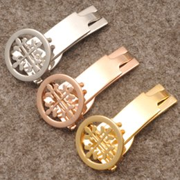 Wholesale Push Fit - New arrival Watchbands Buckle Stainless Steel Clasp 18mm Brand Leather Rosegold Silver Deployment Free shipping Fits Brand