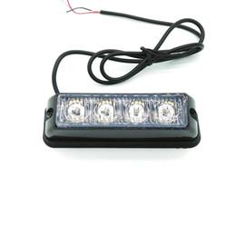 Baliza estroboscópica de emergencia online-2PCS * 4 Barra de luz de baliza de emergencia de camión de coche LED, luz estroboscópica LED, luz estroboscópica LED de barco de motocicleta