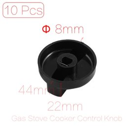 Wholesale mm Hole Inner Diameter Kitchen Gas Stove Cooker Oven Plastic Switch Control Knob Cover Black