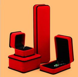 Caixa De Jóias De Veludo Vermelho Para Anel Pingente Pulseira Caixa De Colar Para Exibição de Presente Brinco de Jóias caixão El anillo de Navio Livre Transporte da gota de