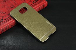Wholesale Galaxy Note2 Luxury Case - Luxury Metal Motomo Aluminum Brushed phone case for SAMSUNG S3 S4 S5 NOTE2 NOTE3 NOTE4 Galaxy S7 edge A3 A5 E5 E7 LG G3 G4 With LOGO Free