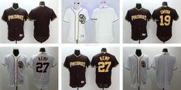 Wholesale Anti Che - Men's #19 Tony Gwynn #27 Matt Kemp Blank San Diego Padres Flexbase Authentic Baseball jerseys White Black Top Quality Drop Shipping Che