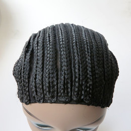 Wholesale Crochet Made - Braided Cap Crochet Wig Caps Hairnets for making wigs Finished braided pattern on cap threee size