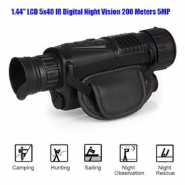 "Wholesale Infrared Meter - 1.44"" LCD 5x40 Infrared IR Digital Night Vision Monocular Scope 200 Meters Zoom 5X 5MP Digital Camera video Photo 29-0003"