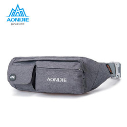 Wholesale Thin Waist Bag - Wholesale- AONIJIE Mini Purse Ultra-thin Men Women for Outdoor Nimble Money Belt Waist Bag Travel Personal Security Free ShippingE7092
