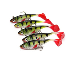 Wholesale T Bait - New Arrive Leopard T-tailed Package Lead Hard Baits Fish Lures 8.5 cm Free Shipping Leopard T-tailed Fishing Baits 13
