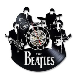 Wholesale Records Digital - Vintage Vinyl Record Wall Clock Gift for the Beatles Fans