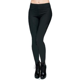 Wholesale Blue Trousers For Girls - Sex Bodybuilding Sport girl Solid Color pants for women Slim Fit capris Fashion leggings trousers PWDK20 WR