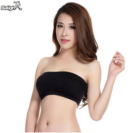 Wholesale Man Boobs - Wholesale- Balight Womens Soft Seamless Strapless Top Breathable Bras Bandeau Boob Tube