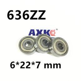 Wholesale Chrome Steel Ball Bearings - Wholesale- 636ZZ bearing 10pcs Metal Sealed Miniature Mini Bearing 636 636Z 636 ZZ 6*22*7 mm chrome steel deep groove bearing