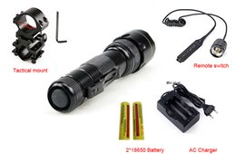 Wholesale Green Tactical Light - 502B LED 2000LM Tactical Flashlight Torch Light+Gun Mount+ Battery+Remote Switch A Complete Set for Hunting Fishing