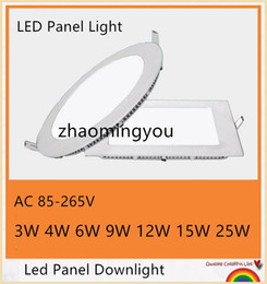 Wholesale Cree 9w Led Down Lights - DHL free shipping 20PCS 3W 4W 6W 9W 12W 15W 18W CREE LED Recessed Ceiling Panel Down Lights Bulb Lamp Warm Cool White