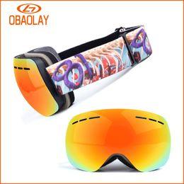 Wholesale Goggles Myopia - Polarized Ski Goggles Double Layers Sunglasses UV400 Anti-Fog Ski Mask Sunglasses Men Women Skiing Snowboard Goggles, Can Put Myopia Glasses