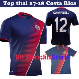 Wholesale Football Specials - Top Thai 2017 Gold Cup Special Costa Rica Soccer Jerseys 17 18 COSTA RICA K.WASTON Football Shirt 10 Pieces Free Shipping dhl