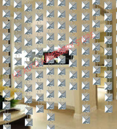 curtain toppers Promo Codes - New Hot selling 10 meters 10 pieces glass crystal beads curtain window door curtain