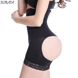 Wholesale Sexy Slim Butt - Wholesale- High Waist Body Shaper Panty Slimming Butt Lifter Panties Sexy Women Slimming Pants Waist Trainning Corset Bodysuit Girdles