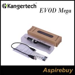 Wholesale Kanger Evod Silver - Kanger Evod Mega Kit 1900mah Evod Battery And Evod Mega Clearomizer New Dual Coil With 2.5ml 1.5ohm EVOD Mega Dual Coil Atomizer
