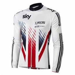 Wholesale Sky Long Sleeve Cycling Jersey - SKY TEAM Autumn or winter fleece 2016 Cycling Jerseys Bike Bicycle Long Sleeves Mountaion MTB cycling Jersey Clothing