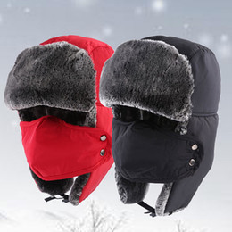 Wholesale Wholesale Fleece Hats Scarves - 30pcs Winter Mask Outdoor Thermal Warm Balaclava Hats Hood Skiing Cap Fleece Ski Bike Scarf Wind Stopper Ski Mask Hats Caps