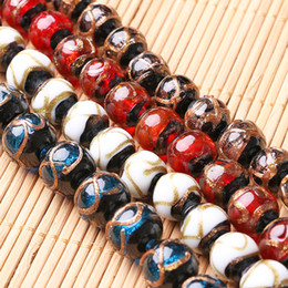 Wholesale Golden Spike Beads - 20pcs Lot Lampwork Beads 12mm Handmade Lampwork Glass Round Bead Multi-color Traditional for jewelry Making Golden Sand Glazed Beads