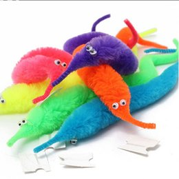 Wholesale Plush Stuffed Worms - 6 Color Magicians Toy Baralho Mr.fuzzy Magica Worm Magic Trick Twisty Plush Wiggle Stuffed Animals Street Toy For Kid Gift