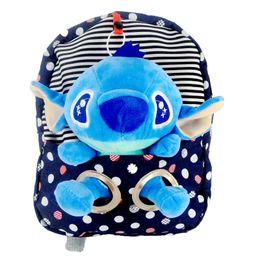 Wholesale Pink Stitch Toys - Stitch Bag Children's Nursery School lovely bag Plush Backpack Plush Toys Free Shipping