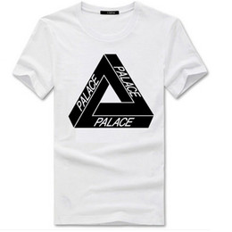 Wholesale Basic Summer T Shirt - Palace skateboards classic triangle print mens t shirt for men basic summer noah clothing cotton short sleeve tees tops