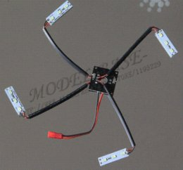 Wholesale Rc X1 - QAV250 CC3D Mini Power Distribution Board Control X1+ LED Light Strip X4 +JST Connector X1 RC Quadcopter Multirotor Helicopter