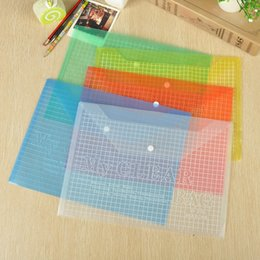 Wholesale Transparent Pouch Gift - Office A4 Transparent Plastic Advertising File Bag Stationery Filing Supplies Student File Bag School Office Supplies Document Pouch Bags