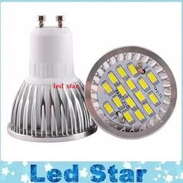 Wholesale Cob Led Smd 6w - smd led bulbs light gu10 6w dimmable led spot light bulbs lamp 16leds 660lumens warm cold white ac 110-240v