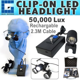 Wholesale Dentist Surgical Loupes - DLH-60 Surgical LED Head Dentist Loupes 50000 Lux Medical Lamp Binocular Dental Light