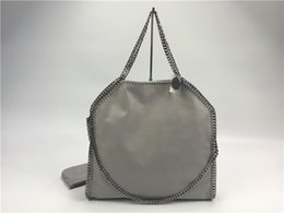 Wholesale Best Women Style - Hot gray dark gray falabella chain stella PVC fold-Over handbag classical luxury shopping tote 37cm best quality shoulder bag