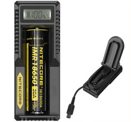 Wholesale Intelligent Lcd Charger - 100% Original Nitecore UM10 Charger Nitecore UM10 Universal Intelligent with LCD Display Battery Charger VS Nitecore I2 Nitecore UM20