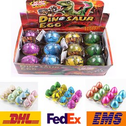 Wholesale Xmas Gift Boxes Wholesale - Easter Egg Dinosaur Hatch Eggs Children Kids Jokes Funny Toys Novelty Educational Learning Toys XMAS Gifts 5-7CM 12pcs box WX-T76