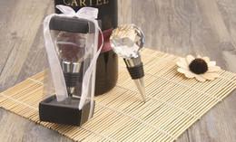 Palla di vuoto online-Il tappo di bottiglia di vino sfera di cristallo Creativo design palla elegante riutilizzabile sottovuoto tappo di vino Favore di partito Decorazione di nozze