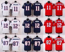 Wholesale Cheap American Shirts - CHEAP American football jerseys Tom Brady Julian Edelman Rob Gronkowski Brandin Cooks Jimmy Garoppolo shirts Customized throwback jersey 4xl