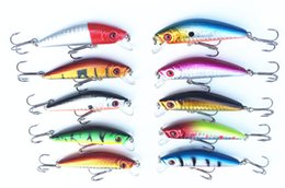 Wholesale 7cm Lures - Fishing Lure Minnow Hard Bait 7cm 8.5g Slow Sinking Freshwater Saltwater Attract Bass Catch Snakehead Lot 5 Pieces