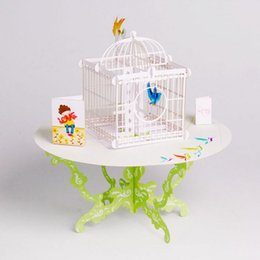 Wholesale Birthday Christmas Cards - Wholesale- 3D Pop Up Greeting Card Birdcage Birthday Valentine Christmas Children's Day-Y103