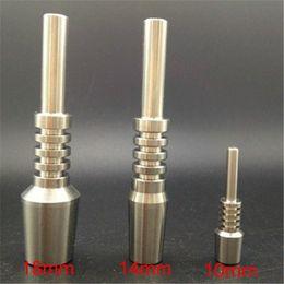 Ongles en porcelaine en Ligne-(Meilleur prix de gros) 10mm 14mm 18mm titane ongle gr2 kit de verre collecteur de nectar utilisé sans nectar fabriqué en Chine