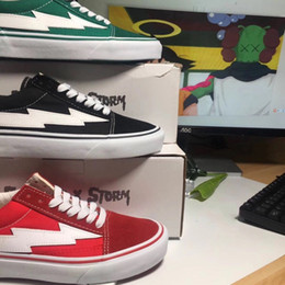 Wholesale Red Storm - REVENGE x STORM Unisex Low-Top & High-Top Adult Men's Canvas Shoes 3colors Laced Up Casual Shoes Gym Sneaker shoes There are boxes