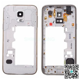 Wholesale Cell Phone Original Housing - Original Middle Frame Cover Case For Samsung Galaxy S5 Mini Best Quality Middle Frame Chassis Housing for Cell Phone Repair Parts S5MINIMFH