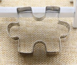 Wholesale Puzzle Steel - New Arrive Puzzle Shape Cookie Cutter Cake Decorating Fondant Cutters Tool Cookies Stainless Steel biscoito