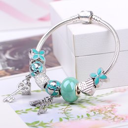 Wholesale Sterling Silver Wholesale Free Shipping - 2016 New Arrival Hot Sale Pandora Bracelets for Woman Gift With 925 sterling Silver Pendant European Beads Charm Bracelets Free Shipping