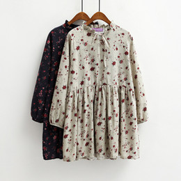 Wholesale Korean Doll Clothes - harajuku summer dress 2017 korean plus size women clothing new sexy dress retro floral doll dress women kawaii flower dresses