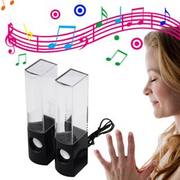 Wholesale Dancing Water Speaker Active Portable - Popular Dancing Water Speaker Active Portable Mini USB LED Light with colorful water dancing drop Music Audio 3.5MM Player for Phone Laptop