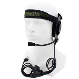 Elite ii headset online-Wholesale-HD01 Z Taktisches Bowman Elite II-Headset mit U94-Stil für Midland 2-Pin-Funkgeräte G6 G7 GXT550 GXT650 LXT80 LXT112 LXT435
